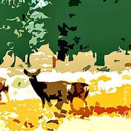 Deer Meadow by Jerome Stumphauzer