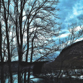 Delaware River Winter Blues by Femina Photo Art By Maggie