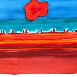 Sol Luckman - Desert Cities original painting SOLD