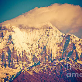 Raimond Klavins - Peak of mount Dhaulagiri in Himalayas mountain NEPAL