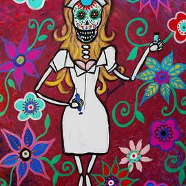 Pristine Cartera Turkus - Dia De Los Muertos Nurse Calavera