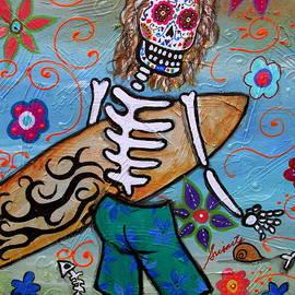 Pristine Cartera Turkus - Dia De Los Muertos Surfer