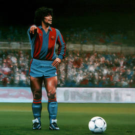 Diego Maradona by Paul Meijering