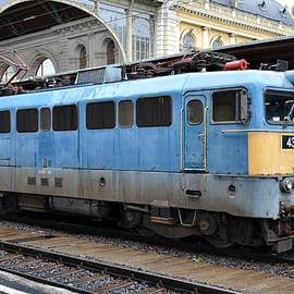 Imran Ahmed - Diesel electric locomotive parked at station Budapest Hungary