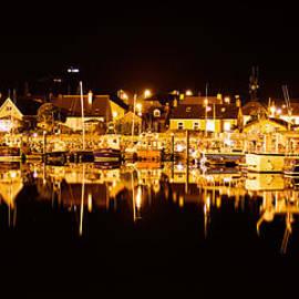 Dingle Marina by Night by Caroline Flynn