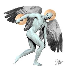 Discus Thrower Angel by Quim Abella