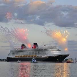 Disney Fantasy and fireworks by Bradford Martin