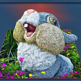 Thomas Woolworth - Disney Floral 05 Thumper Blue