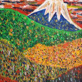 Taikan Nishimoto - Distant View Of Mt. Fuji by Taikan Nishimoto