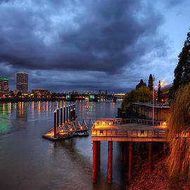 Wolfgang Hauerken - Dock on the Willamette