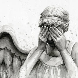 Doctor Who Weeping Angel Don't Blink by Olga Shvartsur