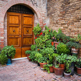 Door in San Gimignano by William Krumpelman