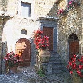 Doors in Bagnoregio by Barbie Corbett-Newmin