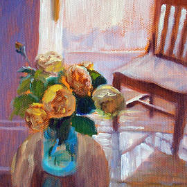 Dormer Light- Morning Light and Roses by Bonnie Mason