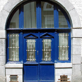 Double Blue Doors by Gerry Bates