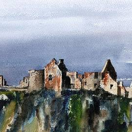 Down  Dunluce Ruins by Val Byrne