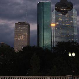 J BB - Downtown Houston at Sunset