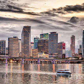 Rene Triay Photography - Downtown Miami Skyline in HDR