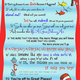 Dr Seuss - Quotes To Change Your Life by Georgia Fowler
