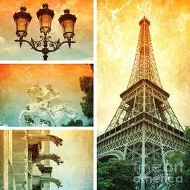 Dramatic Paris Collage by Carol Groenen