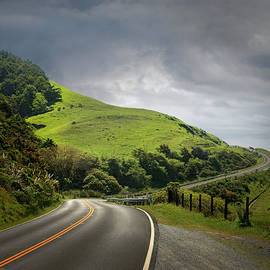 Dramatic Road Through Hilly Country by Ed Freeman