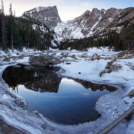 Aaron Spong - Dream Lake Reflection Square Format