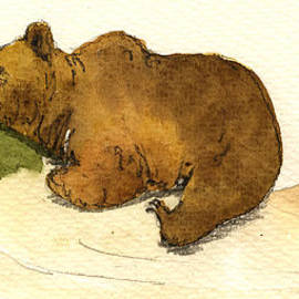 Dreaming Grizzly Bear by Juan  Bosco