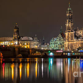 Dresden by Night by Bernd Laeschke