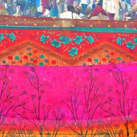 Kim Bemis - Drying the Saris - Kumbhla Mela - Allahabad India