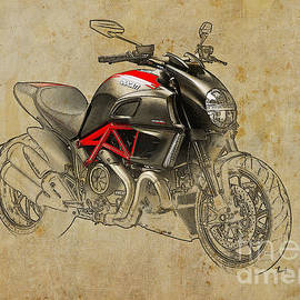 Ducati Diavel Carbon 2011 by Drawspots Illustrations