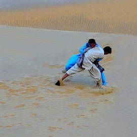 Duel in the Desert Thar Rajasthan India by Sue Jacobi