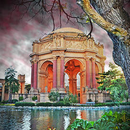 Dusk at the Palace of Fine Arts in the Marina District of San Francisco II Altered Version by Jim Fitzpatrick