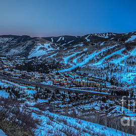 Dusk Setting In The Vail Valley by Franz Zarda