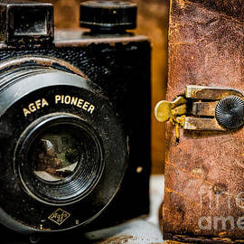 Dusty Agfa Pioneer Camera and Case by Kathleen K Parker