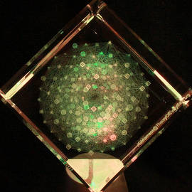 J Gregory Moxness - E8 Theory of Everything Laser Etched in Optical Crystal