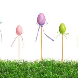 Easter Eggs In Grass by Amanda Elwell