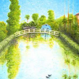 Eastern Canal Venice California by Jerome Stumphauzer