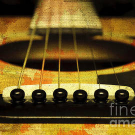 Edgy Abstract Eclectic Guitar 30 by Andee Design