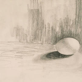 Egg and Shadow by Teresa Ascone