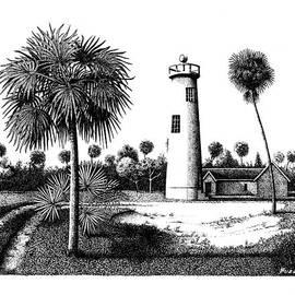 Eggmont Key Lighthouse  by Buzz Coe