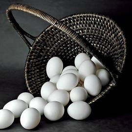 Eggs in a Wicker Basket by Harold Bonacquist