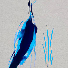 Frank Bright - Egret In Blue 2