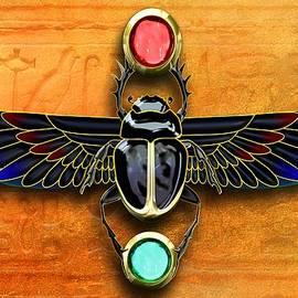 Egyptian Scarab Beetle by John Wills