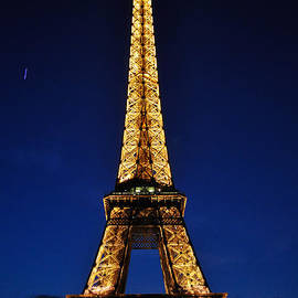 Eiffel At Night by Denise Elfenbein