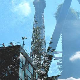Eiffel Collage by Kathy Corday