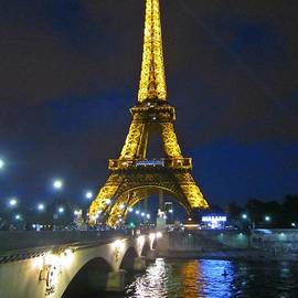 Eiffel Tower at Night by Crystal Loppie