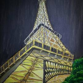 Eiffel Tower At Night by Irving Starr