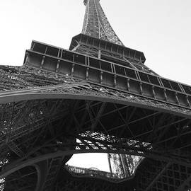 Eiffel Tower b/w by Jennifer Ancker