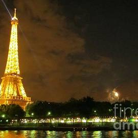 Eiffel Tower Beautiful Reflection in the Seine by John Malone