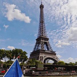 Eiffel Tower from River Seine by Maj Seda